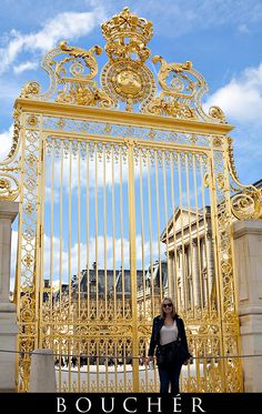 Pearly Gold Gates of Versailles Palace, Paris, France, Photos by: © Weston Bouchér, http://www.BoucherPhotography.com/blog