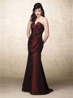 Trumpet/Mermaid V-neck Burgundy Beading Taffeta Sleeveless Floor-length Dress