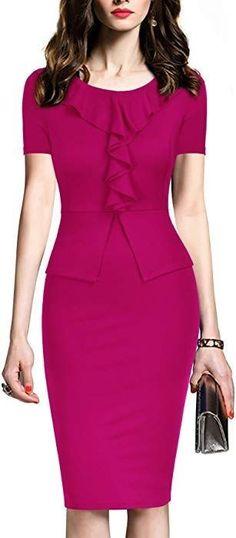 Peplum Bodycon Dress \N Bodycon Dress With Sleeves, Peplum Dress, Dresses With Sleeves, Sheath Dress, Sleeve Dresses, Half Sleeves, Office Dresses, Dresses For Work, Cheap Dresses