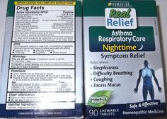 Homeolab Real Relief Asthma Respiratory Care Nighttime 180 Chewable Tablets USA #Homeolab #Homeopathic #remedies #asthmarelief #respiratoryrelief #asthma #shopping #ebay #thenandagaintreasures