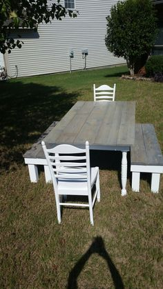 Farmhouse Table I made. Follow me  @ French's Salvage on fb.