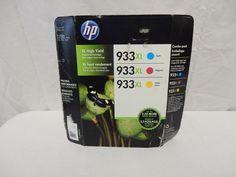 HP 933XL Cyan, Magenta, Yellow Ink Cartridges