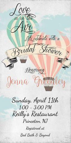 Hot Air Balloons Briday Shower Invitation | Sugar and Spice Invitations