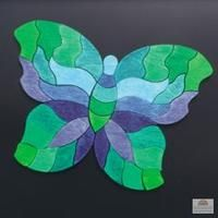 Grimms Mini Magnetic Mandala Puzzle - Butterfly Green