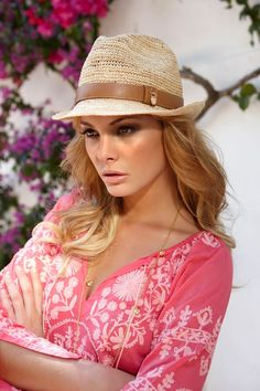 Trendy straw hat by Melissa Odabash - hat