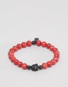 Image 1 ofIcon Brand Beaded Bracelet In Red