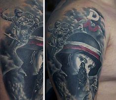 Military Tattoos For Men - Memorial War Solider Designs Military Sleeve Tattoos For Men On Upper ArmMilitary Sleeve Tattoos For Men On Upper Arm Army Tattoos, Military Tattoos, Quarter Sleeve Tattoos, Arm Sleeve Tattoos, Cross Tattoos For Women, Tattoo Designs For Women, Great Tattoos, Tattoos For Guys, Military Sleeve Tattoo