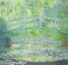 Claude Monet - The Waterlily Pond with the Japanese Bridge