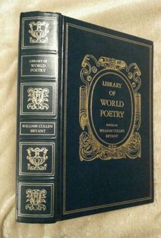 Library of World Poetry William Cullen Bryant Avenel Vintage 1970 Leather-Like | eBay