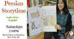 """Golbarg is the Persian Storyteller in New York's """"Book Culture"""" on Broadway!"""