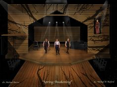 Spring Awakening at ZACH - Set rendering by designer Michael Raiford