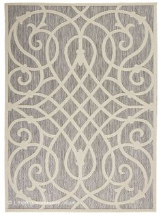Charlton Home Ranks Gray/Beige Indoor / Outdoor Area Rug Rug Size: Runner x Cozumel, Visual Cue, Polypropylene Rugs, Rug Material, Geometric Lines, Indoor Outdoor Area Rugs, Grey Rugs, Modern Rugs, Power Loom