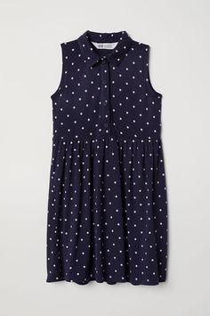 Jersey Dress | Dark blue/dotted