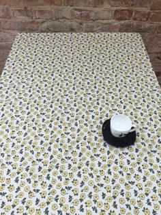 Tablecloth With Small Flowers, Small Yellow Flovers, Moderns Style, Great  Gift