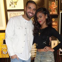drizrih:  Drake  and Vashtie at the Sotheby's Auction House