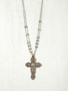 Free People Santa Maria Cross Pendant