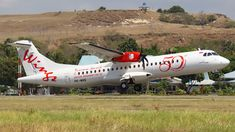 Wings Air (ID) ATR 72-600 (72-212A) PK-WHG aircraft, painted in ''50th ATR'' special colors, taking off Indonesia, Umbu Mehang Kunda Airport (also known as Mau Hau Airport). 20/07/2015.