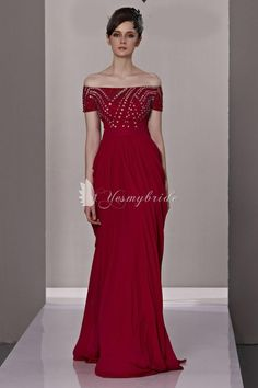 2013 burgundy strapless chiffon off shoulder long formal dress with beading bodice