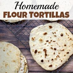 If you often make meals with tortillas, you have to make these homemade flour tortillas! They're tastier (and less expensive) than store-bought ones!