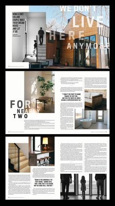 Fort Collins Magazine home feature layout design by Magazine Page Design, Mise En Page Magazine, Editorial Design Magazine, Magazine Design Inspiration, Magazine Layouts, Newspaper Design Layout, Page Layout Design, Portfolio Design Layouts, Fort Collins