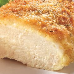 Parmesan Crusted Chicken Recipe. Made this tonight. Very easy to make, good flavor and the chicken was very moist!1/2 cup Hellmann's® or Best Foods® Real Mayonnaise1/4 cup grated Parmesan Cheese4 Boneless Skinless Chicken Breast Halves (about 1-1/4 pounds)4 teaspoons Italian Seasoned Dry Bread Crumbs Bake 425 for 20 minutes