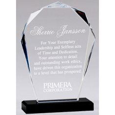Our Faceted Bloom Acrylic Award features a modern cut of clear acrylic with beveled edges mounted on a black acrylic base. This is tall, weighs lbs & includes free engraving. Acrylic Trophy, Acrylic Awards, Black Acrylics, Clear Acrylic, Different Colors, Bloom, Base, How To Plan, Modern