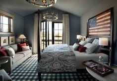 Americana Country Home Decor | Americana Themed Guest Bedroom, HGTV Dream Home 2012