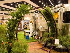 Gracie Modern Arbor by TerraTrellis + Airstream trailer @dwelling in the house on Design 2013