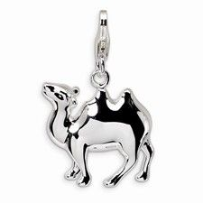 Sterling Silver 3-D Camel Charm