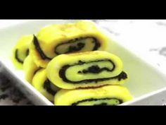 cách làm món trứng rán cuộn rong biển (phổ tai) cực ngon - YouTube
