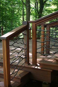 Ipe Deck with Custom railing - traditional - porch - other metro - J. Hence & Co. Inc. Design/Build Contractors