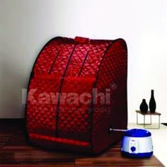 Kawachi SteamLife Portable Steam And Sauna Bathreduces tension, fatigue and stress. Its invigorating and will purify your body by releasing toxins from your pores. This unique portable steam baths the very portable steam bath that folds up and off you go.