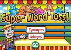 Here's a great site for practicing synonyms and antonyms. It's like playing a game at the fair and quite addicting!