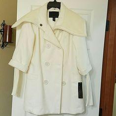 Medium pea coat Off white pea coat brand new never worn attention outerwear Jackets & Coats Pea Coats