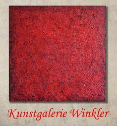 Acrylmalerei - Abstrakte Gemälde Acrylbilder Rot UNIKAT 80 x 80 - ein Designerstück von A-Winkler bei DaWanda http://de.dawanda.com/shop/A-Winkler