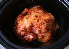 Make Your Own Rotisserie Chicken in the slow cooker- YUM