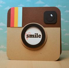 how awesome is this Instagram inspired card from the Ribbon Girls {Handmade Cards}: Insta-Smile