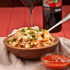 Mexican rice with chicken & shrimp