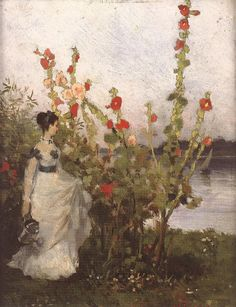 Pál Szinyei Merse was a Hungarian painter and a politician. He studied at the Munich Academy in In the artist won a medal at . Old Paintings, Beautiful Paintings, Blooming Apples, Malva, Flowers Nature, Hanging Art, Figure Painting, Contemporary Artists, Art Education