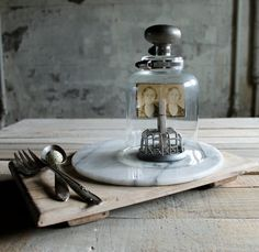 Cloche with Vintage Metal Clamps with Metal by therhubarbstudio, $39.00