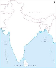 What divides catchments between peninsular rivers in india india blank map of india with rivers and mountains google search gumiabroncs Gallery