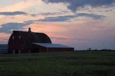 1. Sunset on a lovely farm in rural North Dakota.