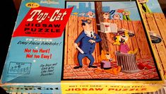 A personal favorite from my Etsy shop https://www.etsy.com/listing/569907112/top-cat-vintage-puzzle-1970s-comic-book