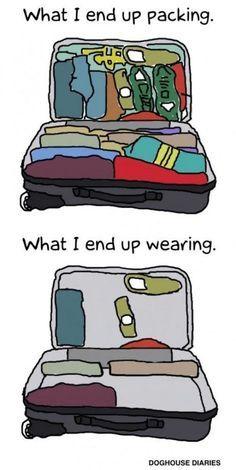la triste vérité sur les bagages