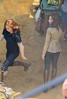 Scarlett Johansson on CAPTAIN AMERICA: CIVIL WAR Set