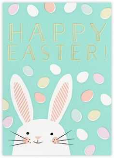 Lucky – Postcards, invitations, stationery – online on Paperless Post – Create Something On Easter Easter Art, Hoppy Easter, Easter Crafts, Easter Bunny, Easter Eggs, Easter Puzzles, Easter Illustration, Book Illustration, Easter Parade