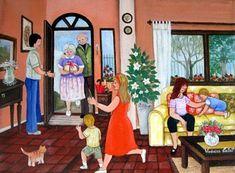 Llegada de los abuelos (? título) - verónica Labat