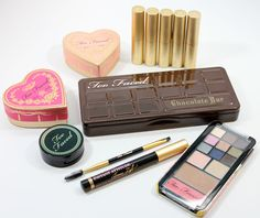 Too Faced Haute Chocolate Collection for Spring 2014 :: the big eyeshadow palette looks amazing and a couple of very nice lipsticks too