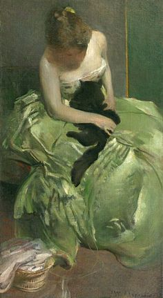 The Green Dress, John White Alexander, ca, 1890