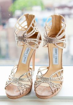 Unique Wedding Ideas: Add Sparkle with Sequins - wedding shoes; Hal Horowitz Photography via Carats & Cake